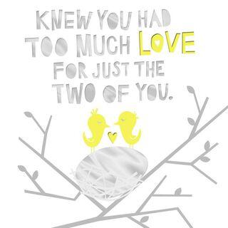 Lovebirds New Baby Congratulations Card,