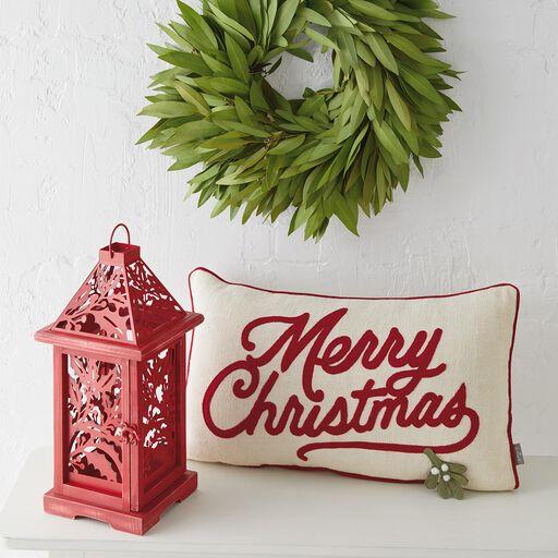 merry christmas throw pillow 20x12