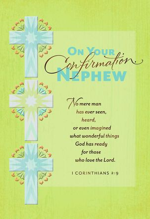 Three Crosses Confirmation Card for Nephew