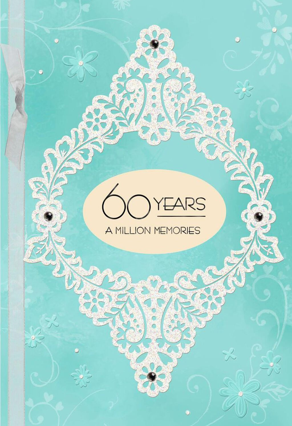 Blue and white floral 60th anniversary card greeting cards hallmark m4hsunfo