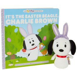 itty bittys® Peanuts® Easter Beagle Stuffed Animal and Storybook Set, , large