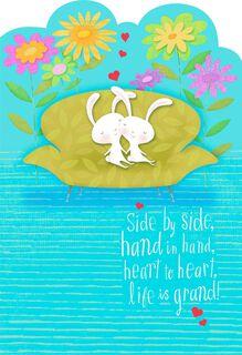 Love So Sweet Romantic Religious Easter Card,