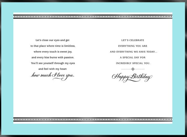 Our Precious Love Romantic Birthday Card