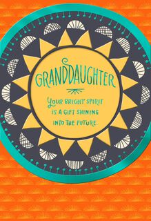 Bright Sun Graduation Card for Granddaughter,