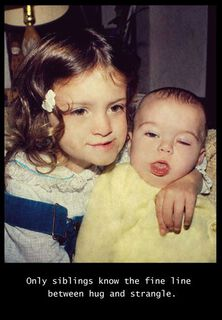 Sibling Strangle Funny Birthday Card,