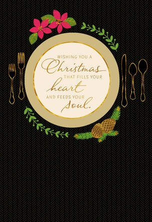 Holiday Place Setting Christmas Card