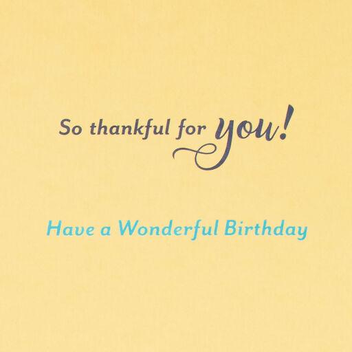 So Thankful For You Religious Birthday Card