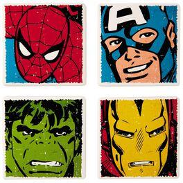 MARVEL Super Heroes Ceramic Coasters, Set of 4, , large