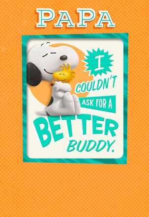 Peanuts® Best Pals Father's Day Card With Magnet