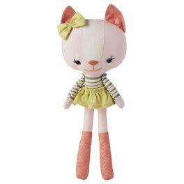 Pink Cloth Cat Premium Stuffed Animal, , large