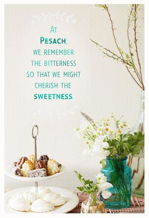 Cherish the Sweetness Passover Card