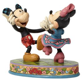Jim Shore® Swinging Sweethearts Mickey and Minnie Mouse Figurine, , large