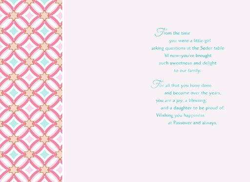 Blessed Daughter Passover Card,