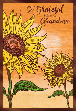 Grateful for You Thanksgiving Card for Grandma
