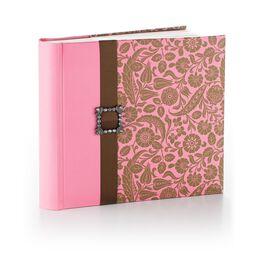 Vintage Pink and Brown Floral Photo Album, , large
