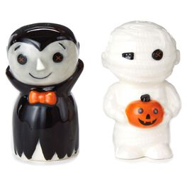 Mummy and Vampire Salt and Pepper Shaker Set, , large