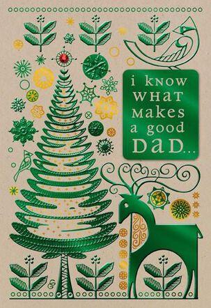 Good Dad Christmas Card
