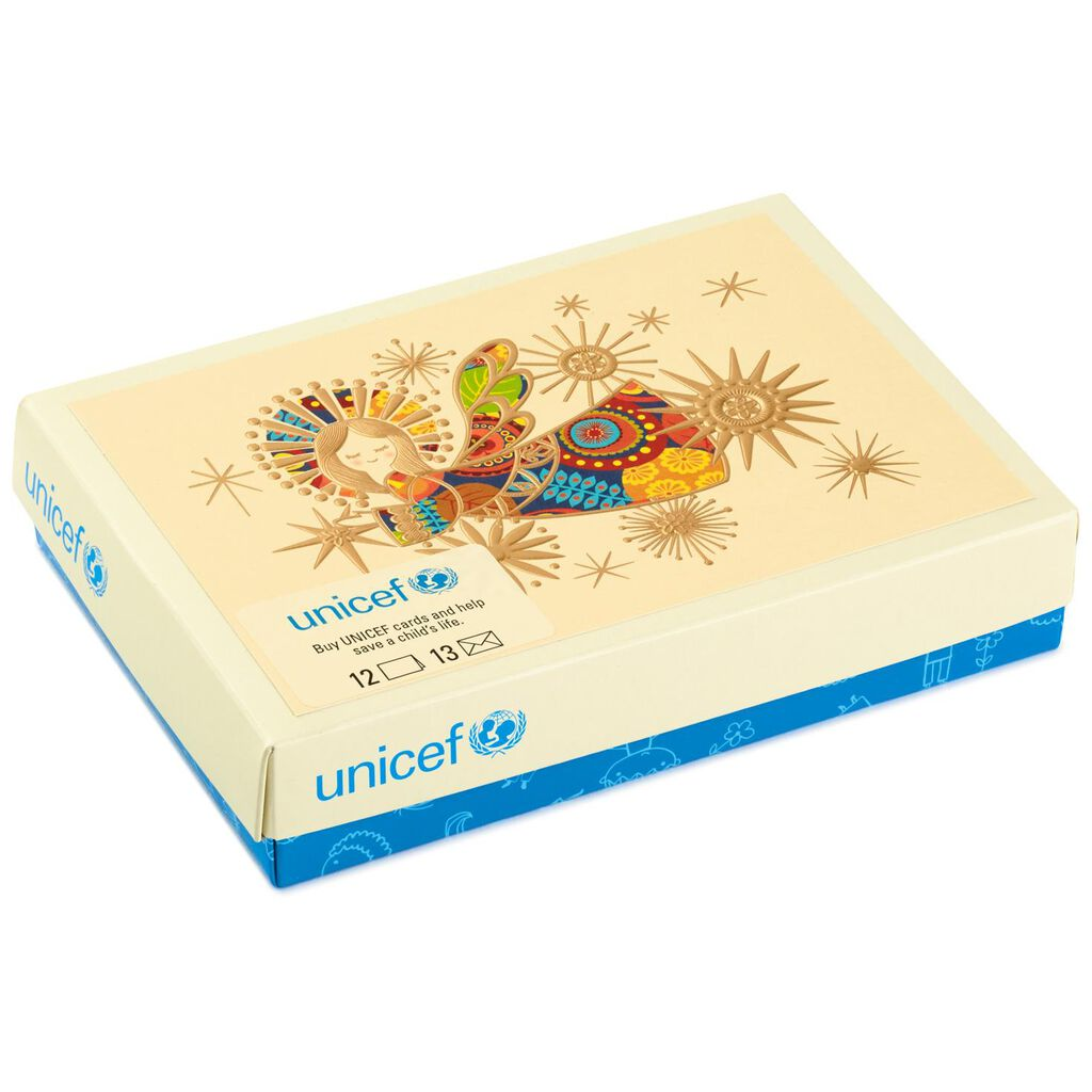 UNICEF Colorful Angel Christmas Cards, Box of 12 - Boxed Cards ...