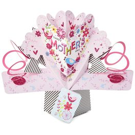 Birds and Flowers Pop-Up Mother's Day Card, , large