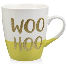"""Woo Hoo"" Jumbo Glitter Mug, 25 oz., , large"