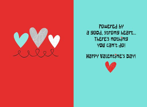 Robot Valentine's Day Card for Kids With Sound,