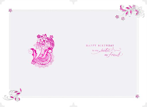 Youre My Lifelong Friend Birthday Card For Sister