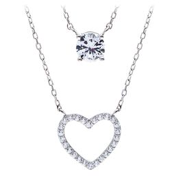 Heart 2-Pack Necklace Set in Sterling Silver, , large