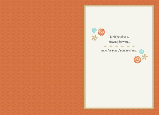 Floral Design Religious Thinking of You Card,