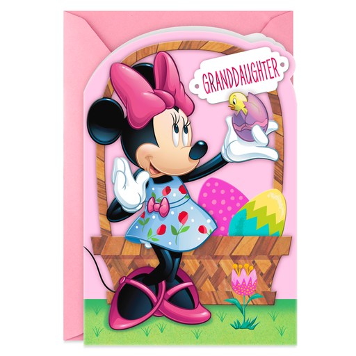 Disney Minnie Mouse Sweet Girl Easter Card For Granddaughter