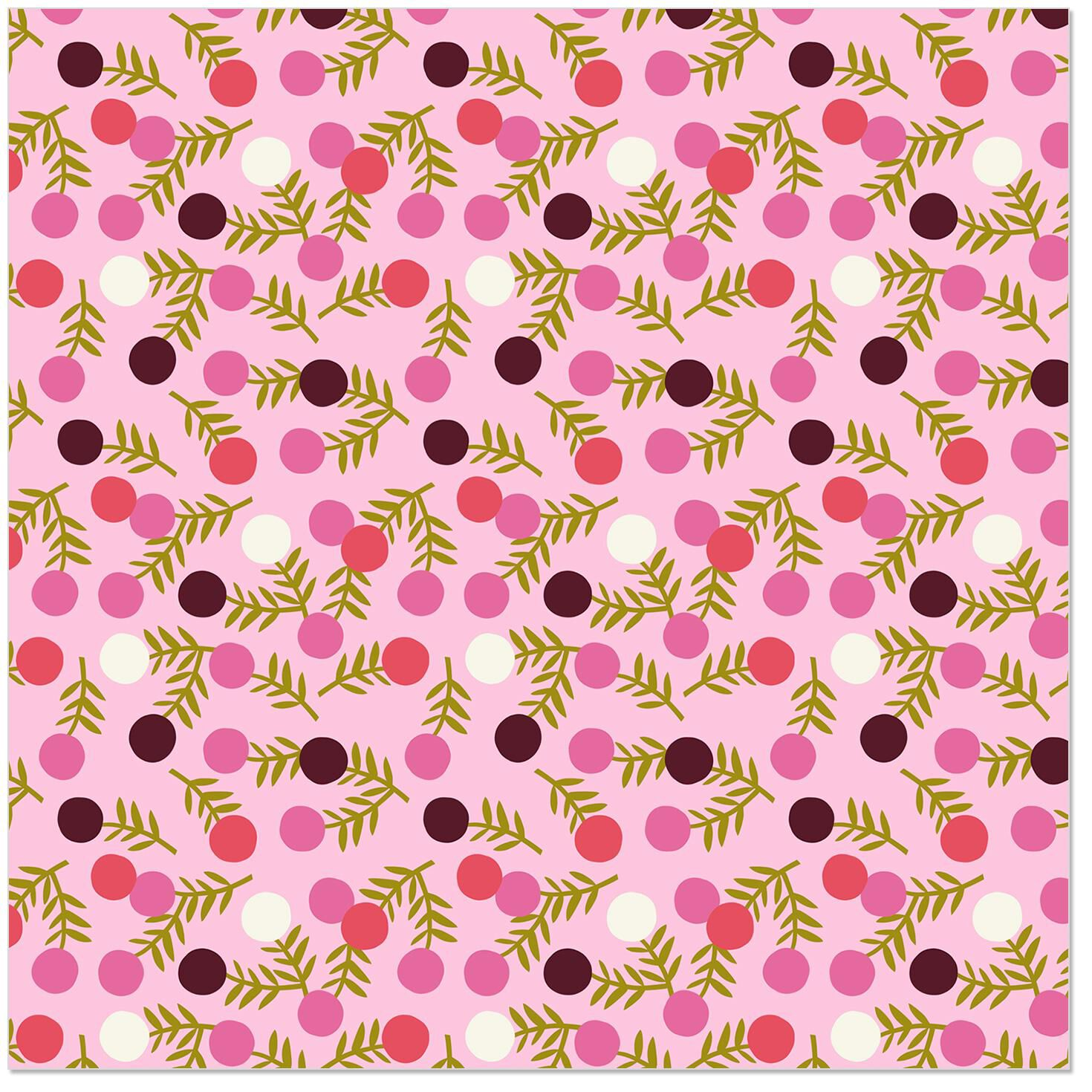 Polka Dot Flowers Wrapping Paper Roll 27 Sq Ft Wrapping Paper