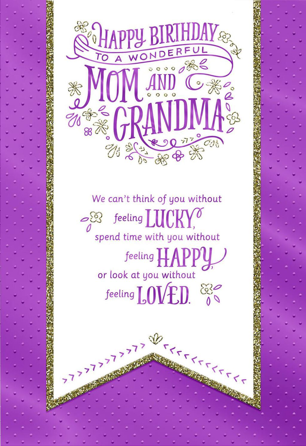 For A Wonderful Mom And Grandma Banner Birthday Card From All