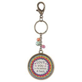 Natural Life Keychain Love You to the Moon Glitter Resin, , large