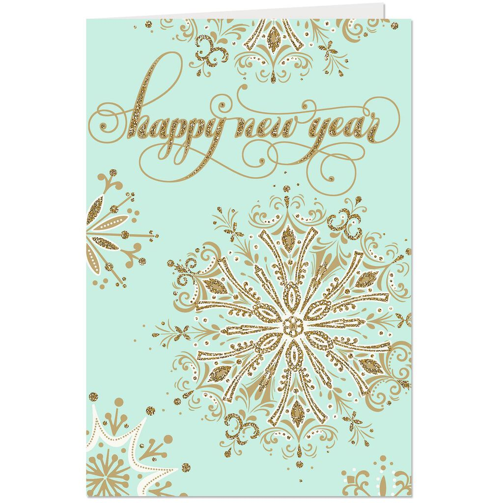 very brightest wishes come true new year card