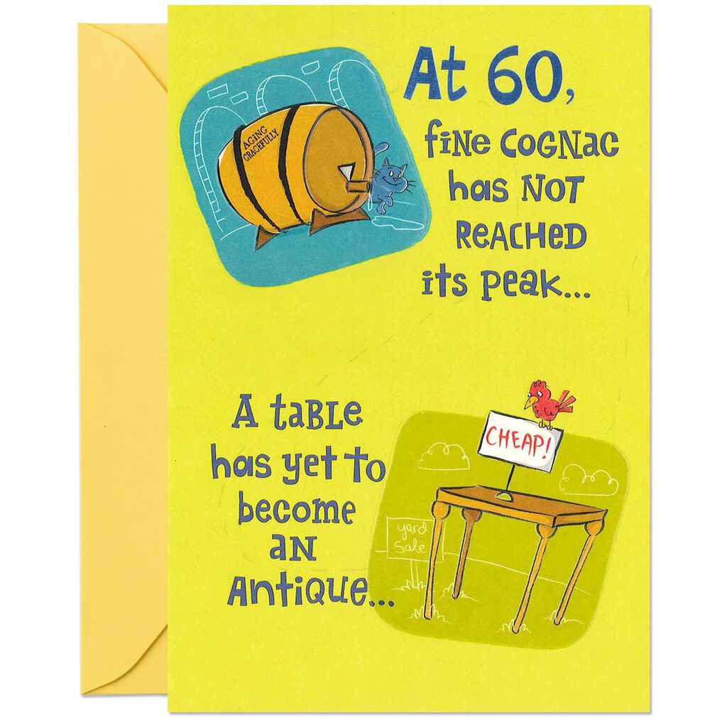 Youre Just Getting Started Funny Pop Up 60th Birthday Card