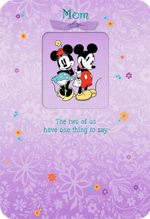 Mickey and Minnie We Love You, Mom Birthday Card