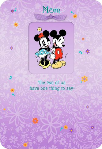 Mickey And Minnie We Love You Mom Birthday Card Greeting Cards