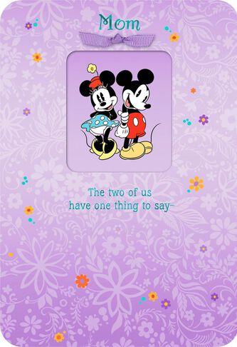 Mickey and minnie we love you mom birthday card greeting cards mickey and minnie we love you mom birthday card bookmarktalkfo Choice Image