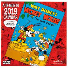 Mickey Mouse Vintage Posters 2019 Wall Calendar 12 Month
