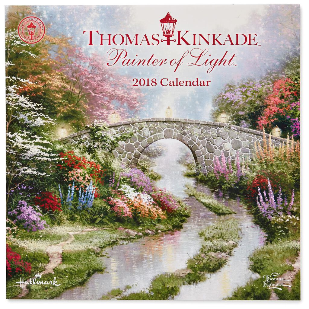 thomas kinkade painter of light 2018 wall calendar 12 month