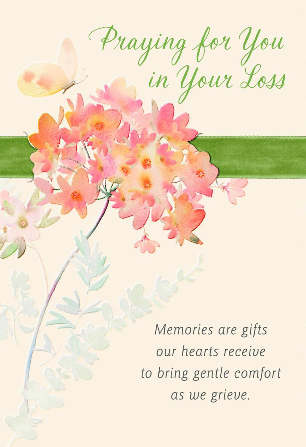 pink blooms religious sympathy card greeting cards hallmark