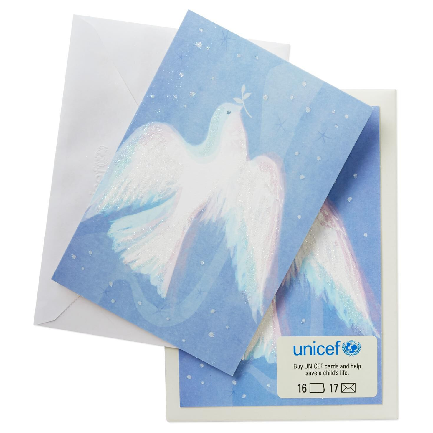 UNICEF Peace Dove Christmas Cards, Box of 16 - Boxed Cards - Hallmark
