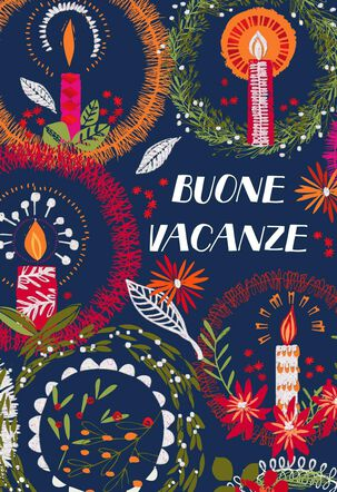 Buone Vacanze Italian-Language Christmas Card