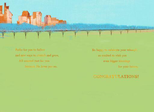 Path of Success Religious Graduation Card,