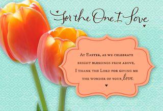 Precious Love Romantic Easter Card,