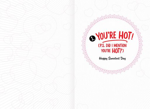 You're Hot! Funny Sweetest Day Card for Wife,