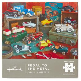 Pedal to the Metal Kiddie Cars 550-Piece Jigsaw Puzzle, , large