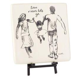Love Never Lets Go Family Decorative Tile, , large