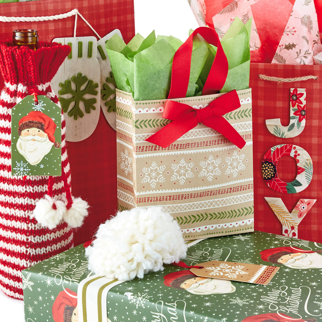 Cozy Christmas Gift Wrap Collection - Gift Bags - Hallmark
