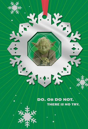 Star Wars™ Yoda™ Christmas Card With Ornament