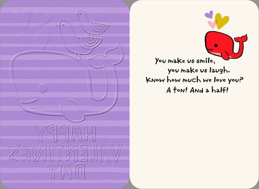 Love You Much Whale Valentine's Day Card,